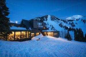 Alta Lodge Exterior at Night