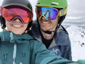 Jules & Mike. Skiing Alta.