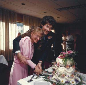 Cassie & Marcus. Alta Lodge Wedding. Cake Cutting.