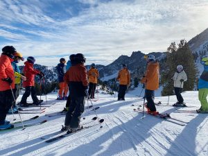 A group of skiers at Alta Ski Area